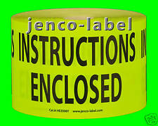 HE3506Y, 500 3x5 Instructions Enclosed Label/Sticker