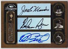 2005 Timeless Treasures NOLAN RYAN JACK MORRIS DAVE STEWART Triple Auto #d 10