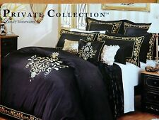 NEW Private Collection Charisma Black pillow case GOLD embroidered RRP$49.99