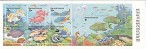 Marshall Islands 1993 Reef Life - Booklet Pane of 7 Stamps #440a
