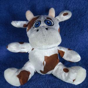 *1913b*  ELKA Australia - white & brown Cow / Bull - adorable - 14cm