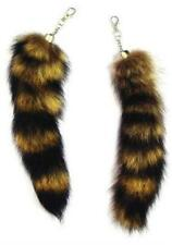 12 JUMBO RACCOON TAIL KEY CHAIN rendezvous animal fur racoons tails new keychain