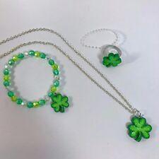 Girls Fashion Jewelry St Patricks Day Bead Necklace Bracelet Ring Set Claire's