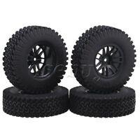 "4pcs 1.9"" 14 Spoke Wheel Rim+98mm Rubber Tire Replace for RC1:10 Rock Crawler"