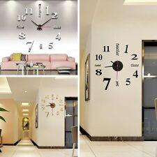 DIY Deko 3D Stylisch Design Wanduhr Wohnzimmer Wanduhr Spiegel Wandtattoo