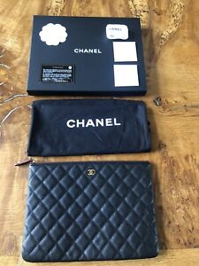 Chanel Quilted Pouch Clutch Bag
