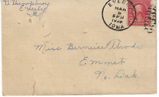 1929 Everly IA Duplex Cancel on Cover to Emmet ND