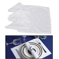 Polyester Napkins Damask Linen Swirl Pattern for Wedding Tablecloth Dinner Decor