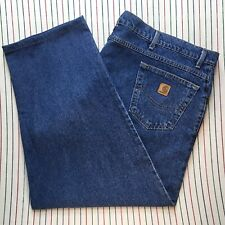 746 Carhartt Jeans Workwear Tapered Relaxed Mens *Tailored Denim Size 50 30 BLUE