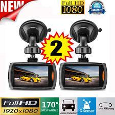 "2PCS 2.2"" Auto Kamera Recorder KFZ DVR Überwachung Dashcam HD 1080P Autocamera"