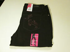 LEE STRAIGHT STRETCH CLASSIC FIT JEANS PETITE SZ 14 P -BROWN- NWT