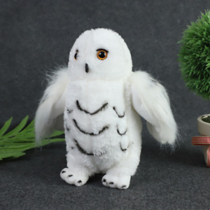 AU Harry Potter Hedwig White Snowy Owl Animal Plush 20CM Tall Party Decor Gift