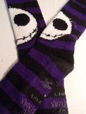 Nightmare Before Christmas Socks Cozy Fleece Tim Burton's Jack Skellington BIN