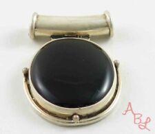 Sterling Silver Vintage 925 Dangle Slider Onyx Pendant (12.5g) - 809681