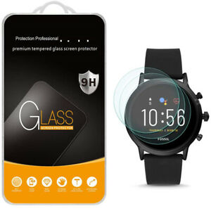 3 Pack Real Tempered Glass Film Screen Protector For Fossil Gen 5 Smartwatch