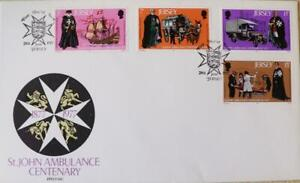"""Jersey Stamps """"St. John Ambulance Centenary"""" First Day Cover 1977"""