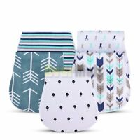 Baby Burp Cloths for Girl Boys, Triple Layer, 100% Organic Cotton, 5-Pack