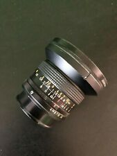 New ListingKonica Hexanon Ar 21mm f4 Lens. With Quantaray 77mm Pl filter. Both covers