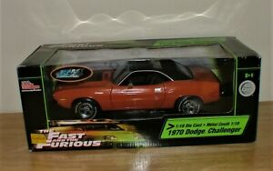 Fast And Furious 1970 Dodge Challenger R/T Darden Car Toy 1:18