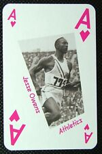 1 x playing card London 2012 Olympic Legends Jesse Owens Athletics Ace Hearts