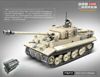 Baukästen Modell Militär Serie Krieg Tiger Heavy Tank Panzer Microblock Kinder M