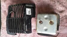 B&Q Homelite Mightylite HLT26CD Strimmer Parts - Rear Case Cover and exhaust