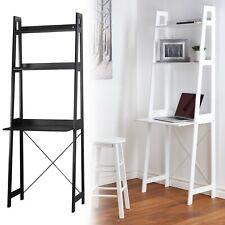 Verona Ladder Work Desk 2 Shelves Wooden Bedroom Computer Table Office Storage