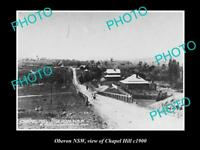 OLD LARGE HISTORIC PHOTO OF OBERON NSW VIEW OF CHAPEL HILL c1900