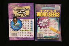 Lot of 2 Penny Press Word Seek Pocket Puzzle Magazines 2021 Remember When G