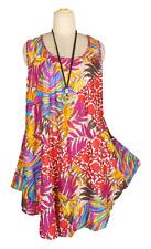 Hippie Patch Tunic Top Boho Beach Kaftan UK Size Plus 20 22 24 26 28 30 32 34