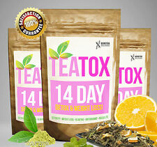 Teatox 14 Day Detox Set pérdida De Peso Dieta Adelgazar De Té, Desintoxicación del té, Quemar Grasa Té