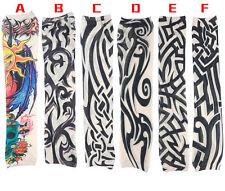 Skin Tattoo Sleeves Cloth Arm Sleeve Cuff Socks Carnival Costumes Nylon Stretchy