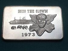 1 oz Silver Bozo the Clown 1973 Vintage Bullion Art Bar RARE!