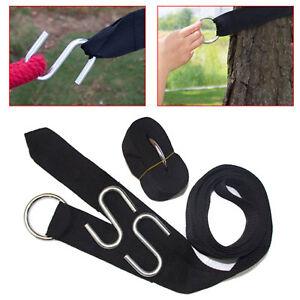 2xTree Hanging Swing Straps Hammock Rope Hangers Kit Hooks Carabiner Fitting UK
