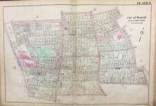 1921 MIDDLESEX CO. EVERETT MA LINCOLN SCHOOL WASGOTT PLAYGROUND PLAT ATLAS MAP