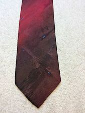 Vintage Del Orso Di Roma Mens Tie 2.5 X 55 Burgundy With Red, Blue Accents