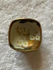 Japanese Miniature Kutani Bowl On Stand Signed