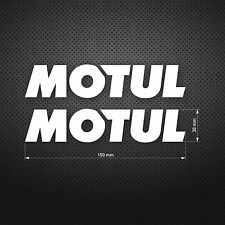 MOTUL Lubricants Racing Vinyl DIE CUT Decal Sticker Car Window 2pcs