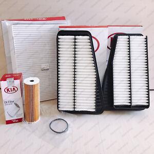 Stinger Genuine AIR FILTER+Oil Filter 4 PCS FILTER KIT 3.3T Set For Kia Stinger