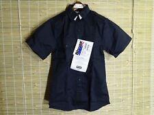 BLAUER MENS/WOMENS SHORT SLEEVE EMT/POLICE WORK COTTON TWILL NAVY BLUE XS