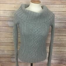 Abercrombie Fitch Gray Cowl Neck Sweater Size S Wool Angora Women's #54p
