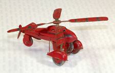 Rare Vintage Pre-Occupied Japan tin wind-up helicopter