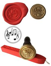 Wax Stamp, MUSIC SHEET Coin Seal and Red Wax Stick XWSC234-KIT