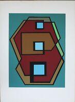 Mario Radice serigrafia a colori '70 69x49 firmata numerata prova di stampa