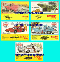 Dinky Toys Thunderbirds 100 101 103 104 105 Set of Posters Leaflets Signs Advert