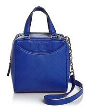 NWT $395 Tory Burch Alexa Mini Leather Satchel Crossbody! Songbird Blue