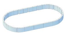 Isolationsschutz 120 cm hoch für Pool oval 920 x 460 x 132 cm Druckschutz Wärme