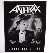 ANTHRAX AMONG THE LIVING BACK PATCH