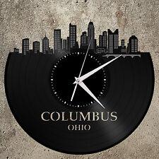 Columbus OH Clock, Ohio State Wall Art, Trendy Gift Idea for Him, Men, Birthday