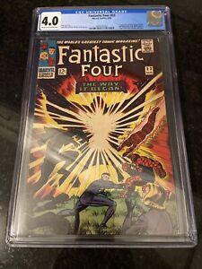 Fantastic Four #53 💥 CGC 4.0💥 2nd App of Black Panther & 1st Klaw! Comic 1966